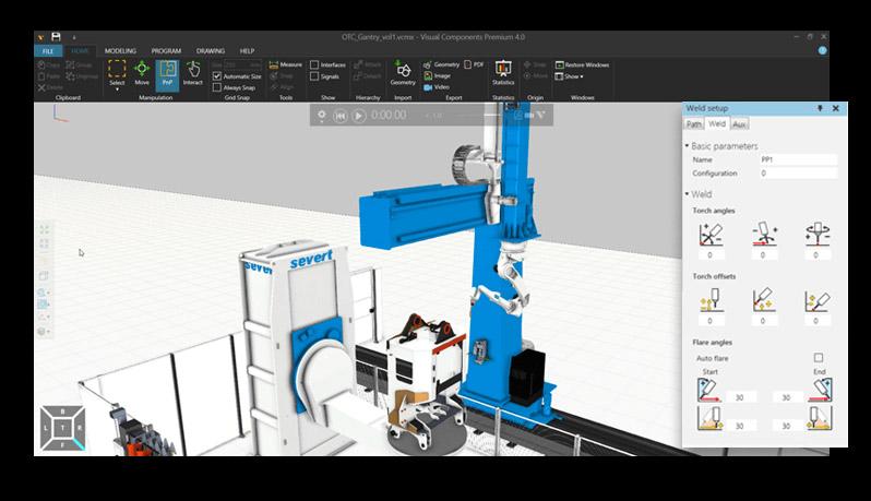 simulación para programación del robot